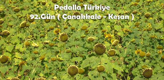 Pedalla Türkiye 92.Gün ( Çanakkale – Keşan )