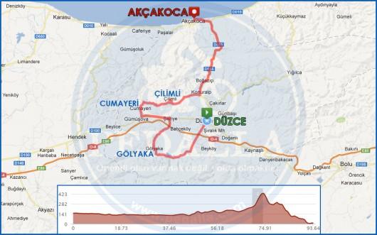 duzce-akcakoca-guzergah-haritasi